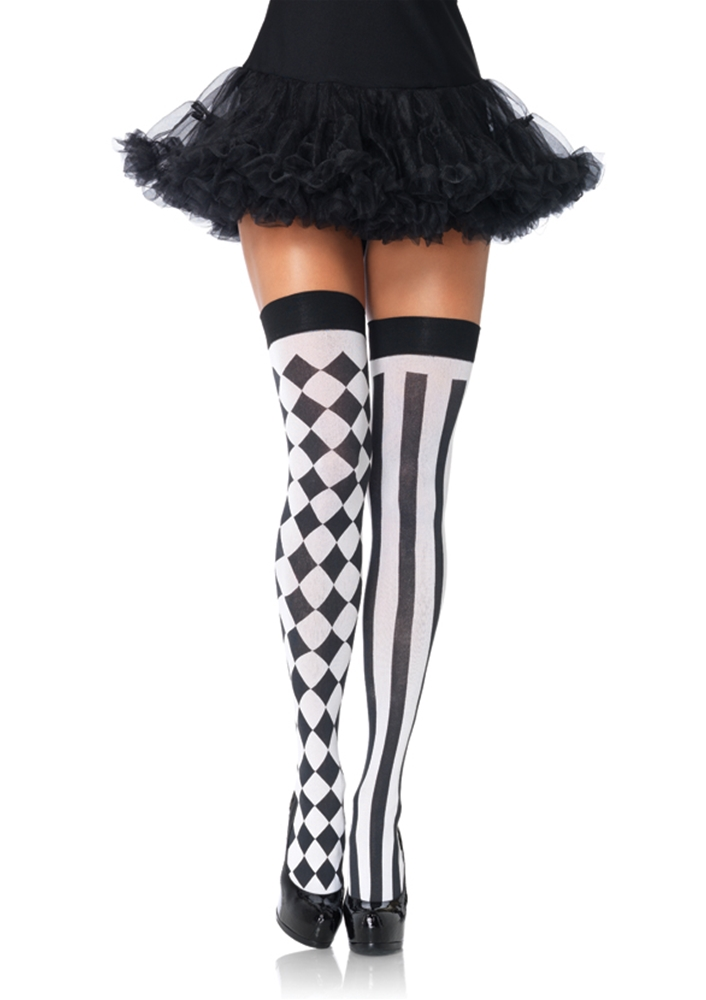 Harlequin Thigh Highs Women Accessory