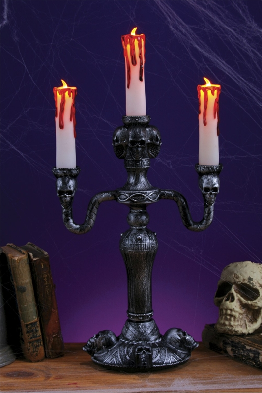 Haunted Led Candelabra 14in
