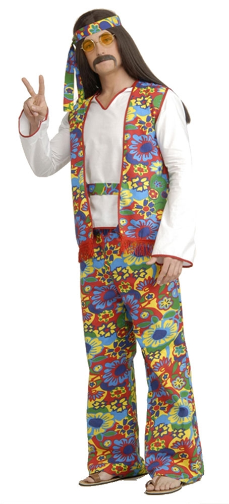 Hippie Dippie Plus Size Adult Mens Costume