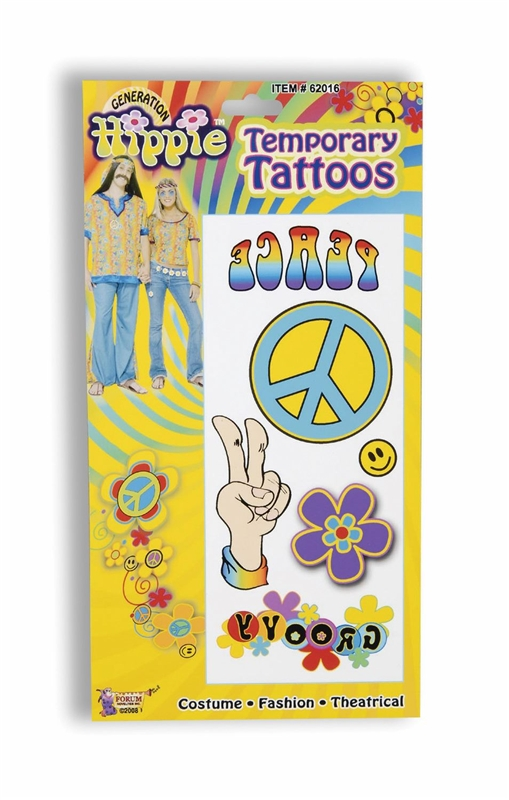 Hippie Temporary Tattoo's