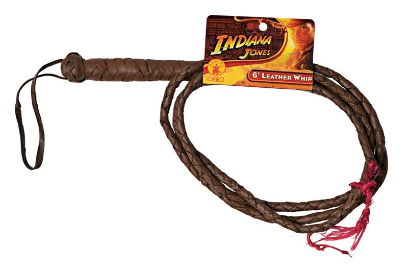 Indiana Jones Leather Whip 6ft by Rubies