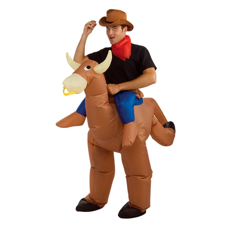 Inflatable Bull Rider Adult Mens Costume
