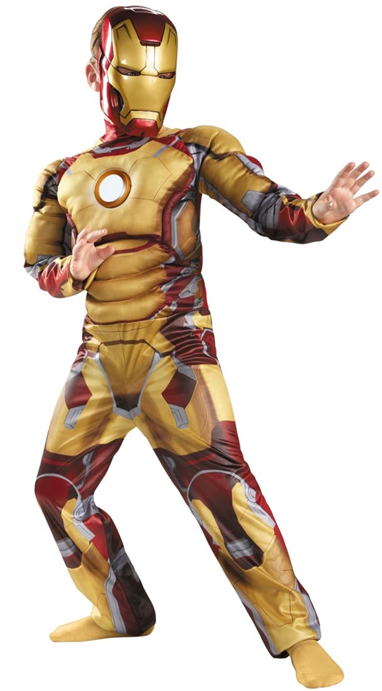 Marvel Deluxe Iron Man Mark 42 Muscle Light Up Child Costume