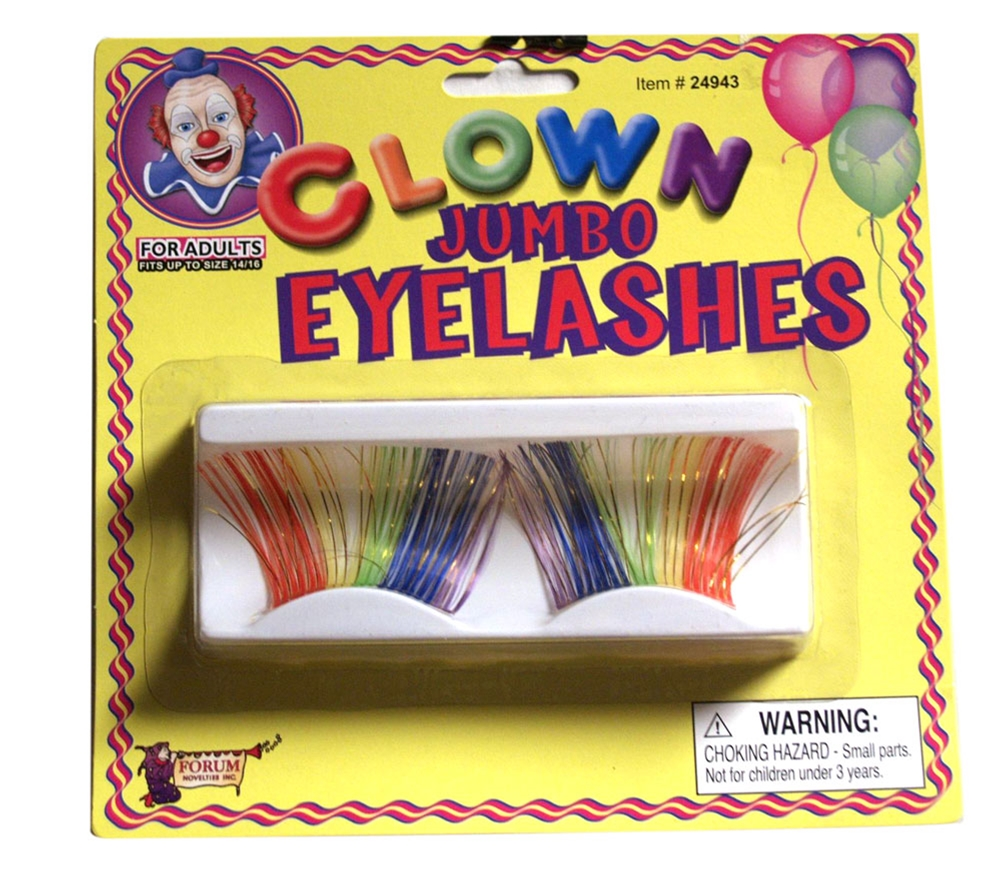 Jumbo Clown Rainbow Eyelashes