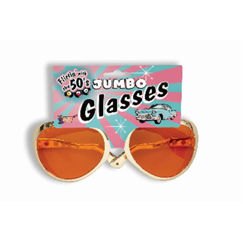 Jumbo Rock And Roll Glasses