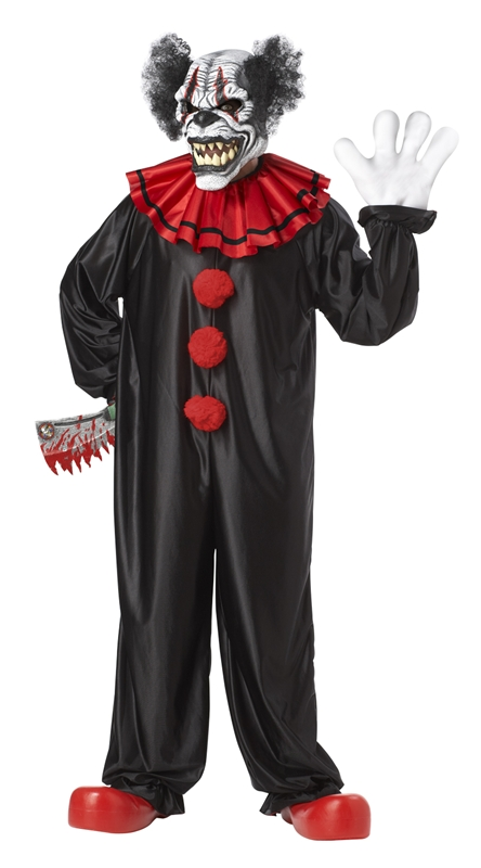 Last Laugh Evil Clown Adult Costume by California Costumes