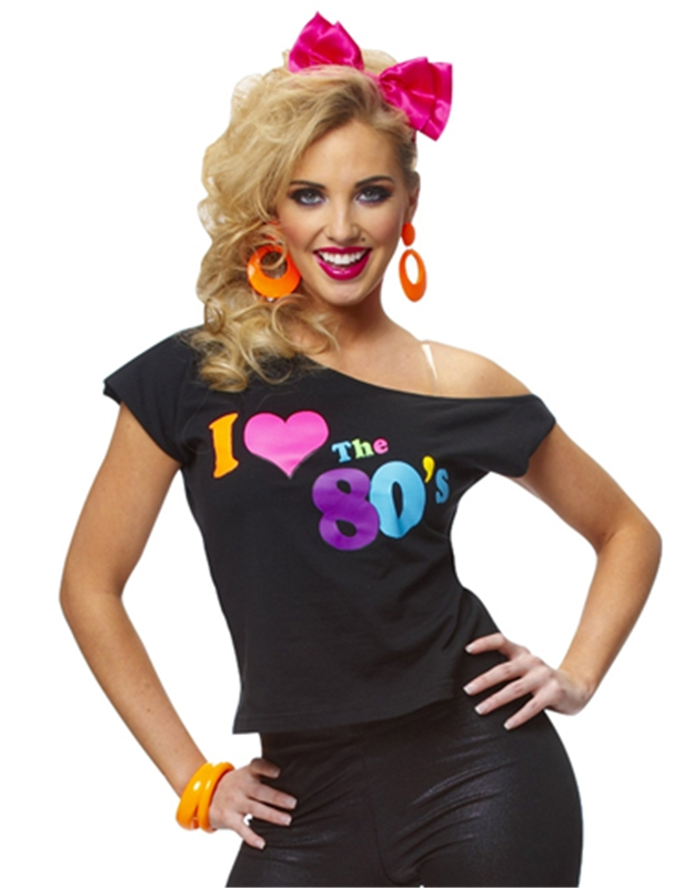 Love 80s T-Shirt Adult Costume