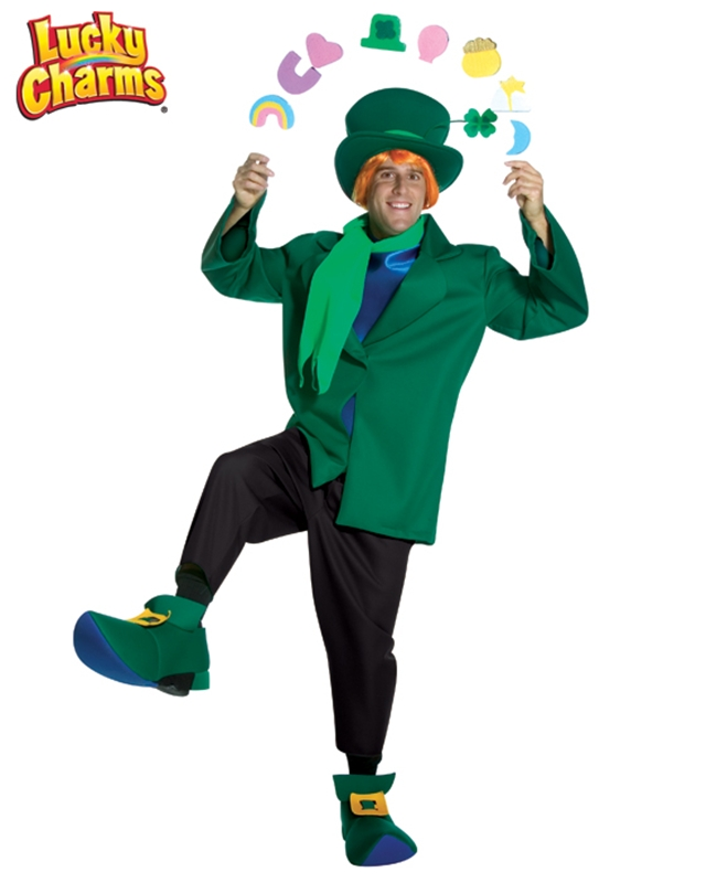 Lucky Charm Cereal Leprechaun Adult Mens Costume