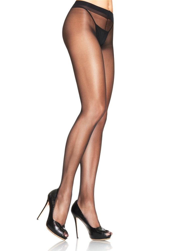 Black Sheer Waist Support Pantyhose