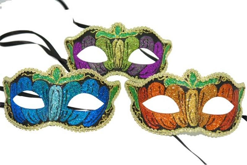 Glitter Adult Mask by K.B.W. Global Corp