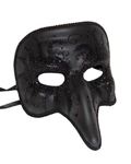 Venetian-Short-Nose-Black-Mask