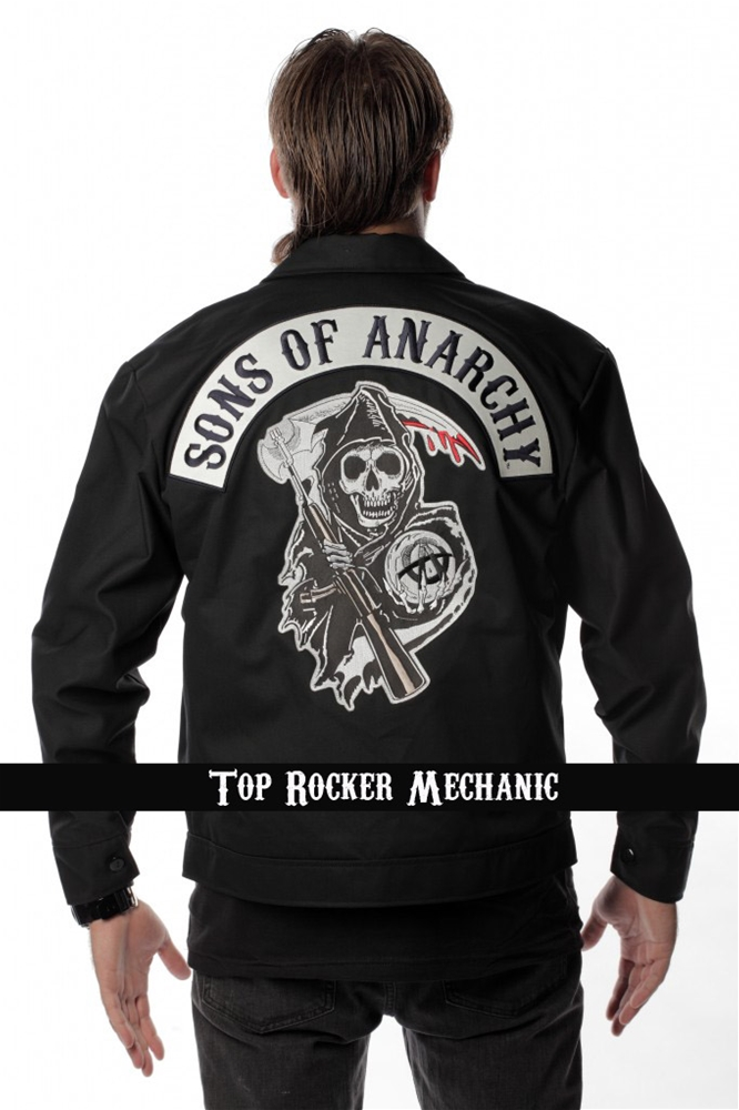 Image of Sons of Anarchy Adult Mens Mechanic Jacket