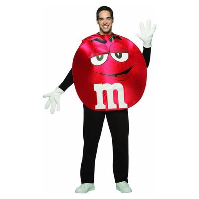 M&M Red Poncho Teen Costume by Rasta Imposta