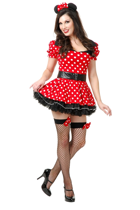 Miss Mouse Pin-Up Adult Womens Costume (Mouse Costume Women)
