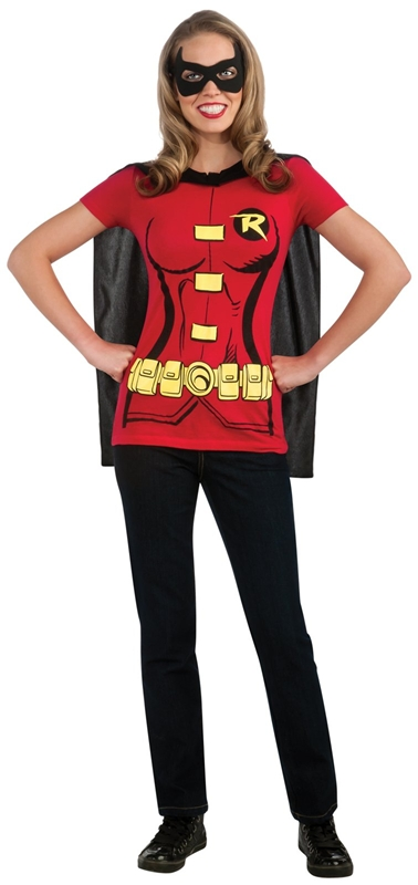 Miss Robin T-Shirt Adult Costume by Rubies