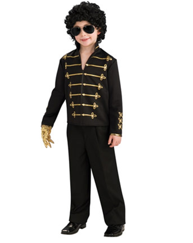 Michael Jackson Red/Black Military Jacket Child Costume by Charades