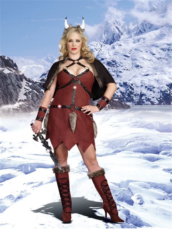 Ms. Viking Warrior Adult Womens Costume Plus Size