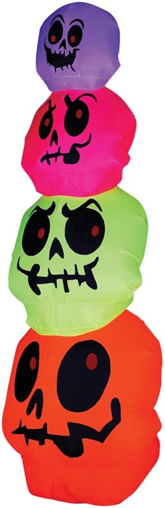 Neon Skulls Stack Airblown