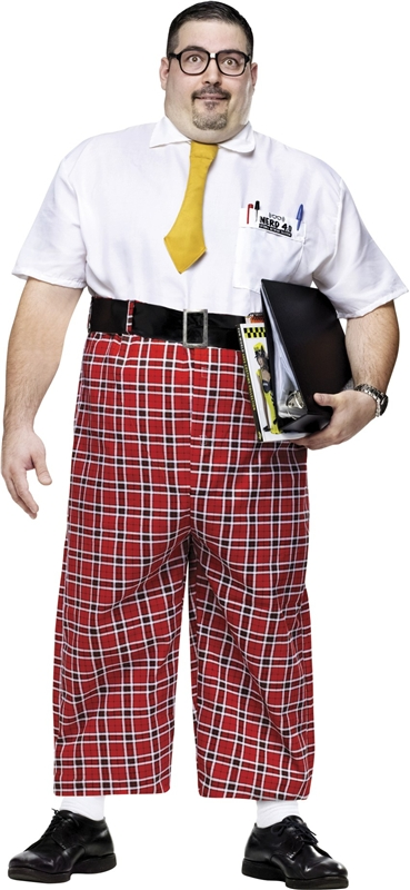Nerd Jumpsuit Plus Size Adult Mens Costume