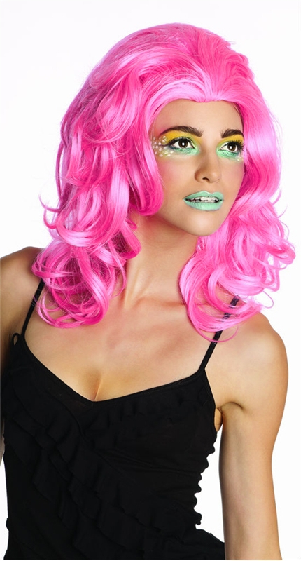 New Wave Wig-Neon Pink