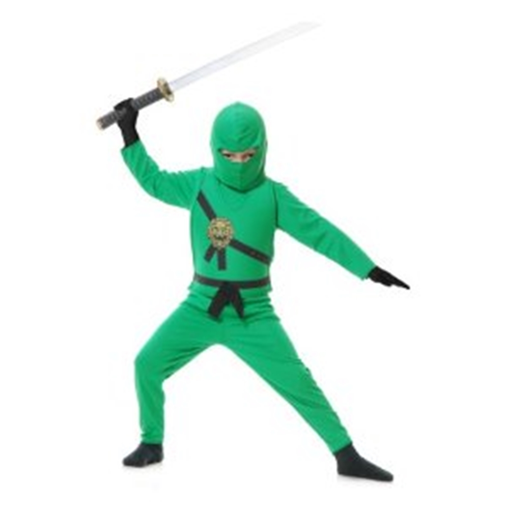 Ninja Avenger Series Green Child Costume