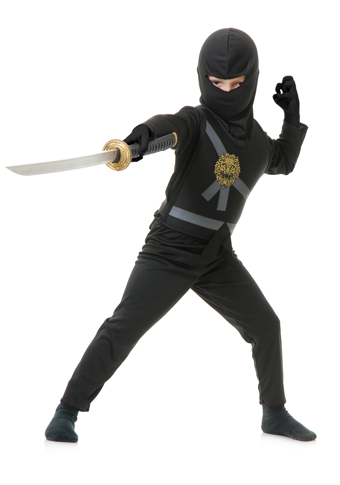 Ninja Avenger Series Black Child Costume