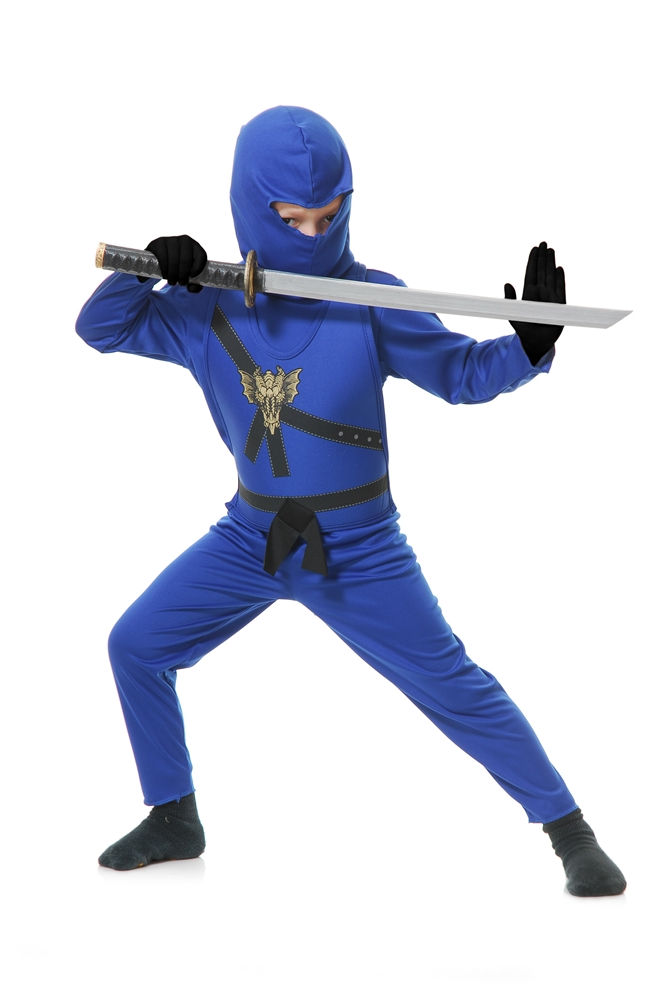 Ninja Avenger Series Blue Child Costume