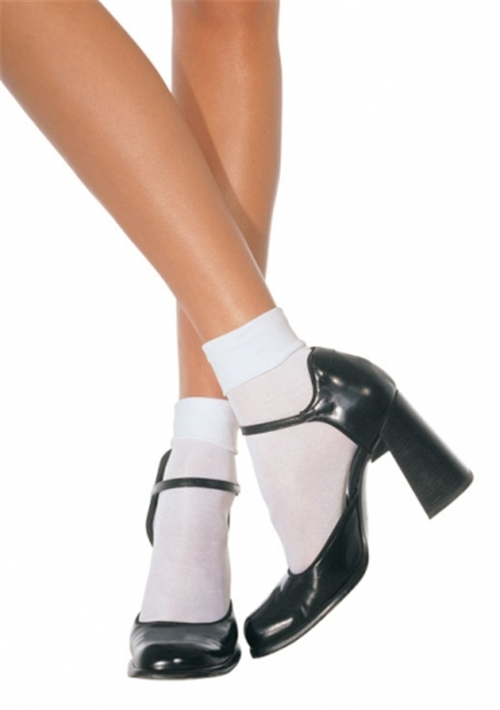 Nylon Cuff with White Ankle Socks