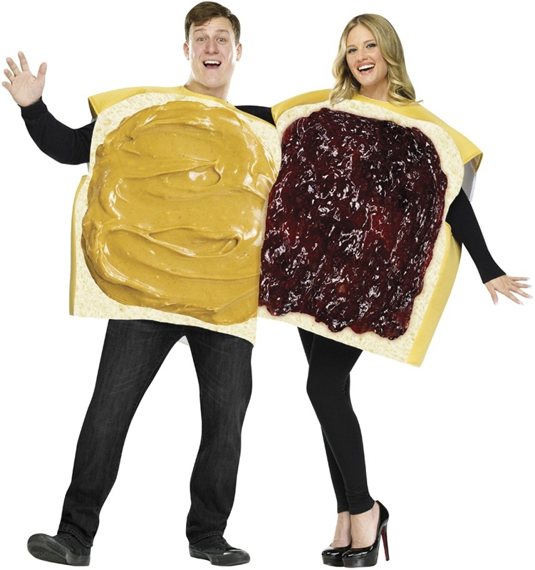 PB&J Couple Adult Costume (Couples Costumes)