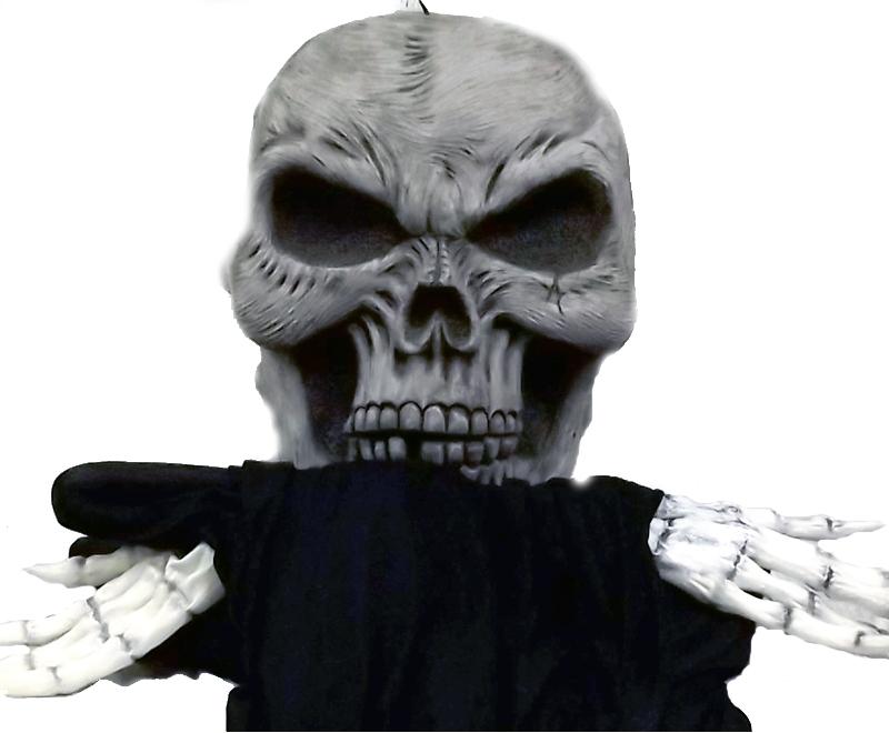 Ominous Skull Oversized Hanging Prop 16ft