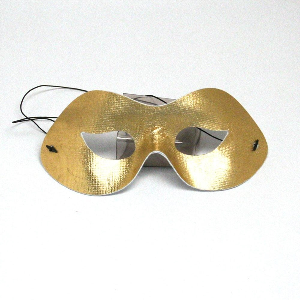Party Wear Gold Half Mask