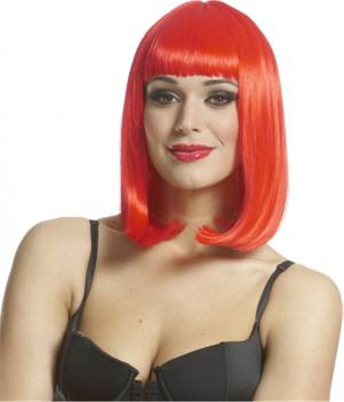 Peggy Sue Wig Neon Red by Franco-American