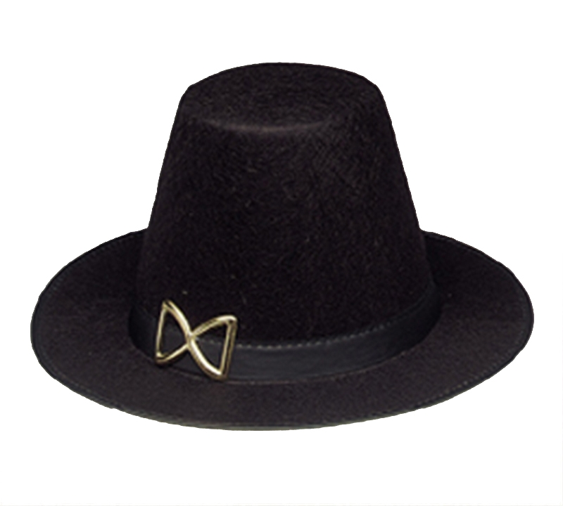 Black Pilgrim Adult Hat