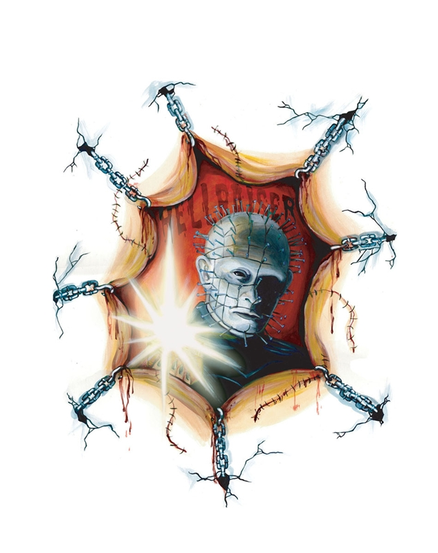 Pinhead Spooky Scenes Window Cling