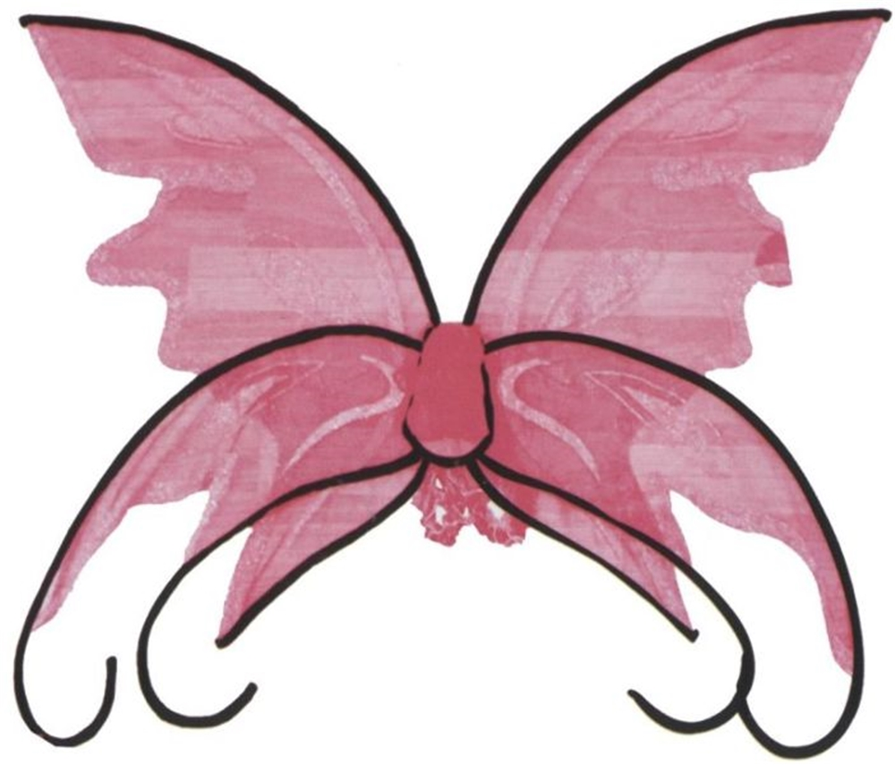 Pink Butterfly Adult Wings
