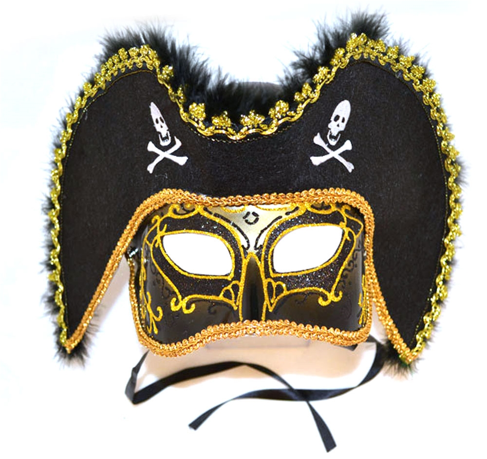 Pirate Adult Mask with Hat