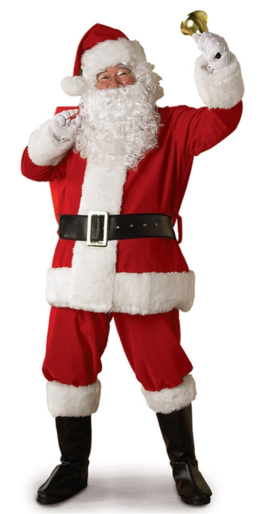 Plush Santa Claus Suit Adult Costume by Rubies