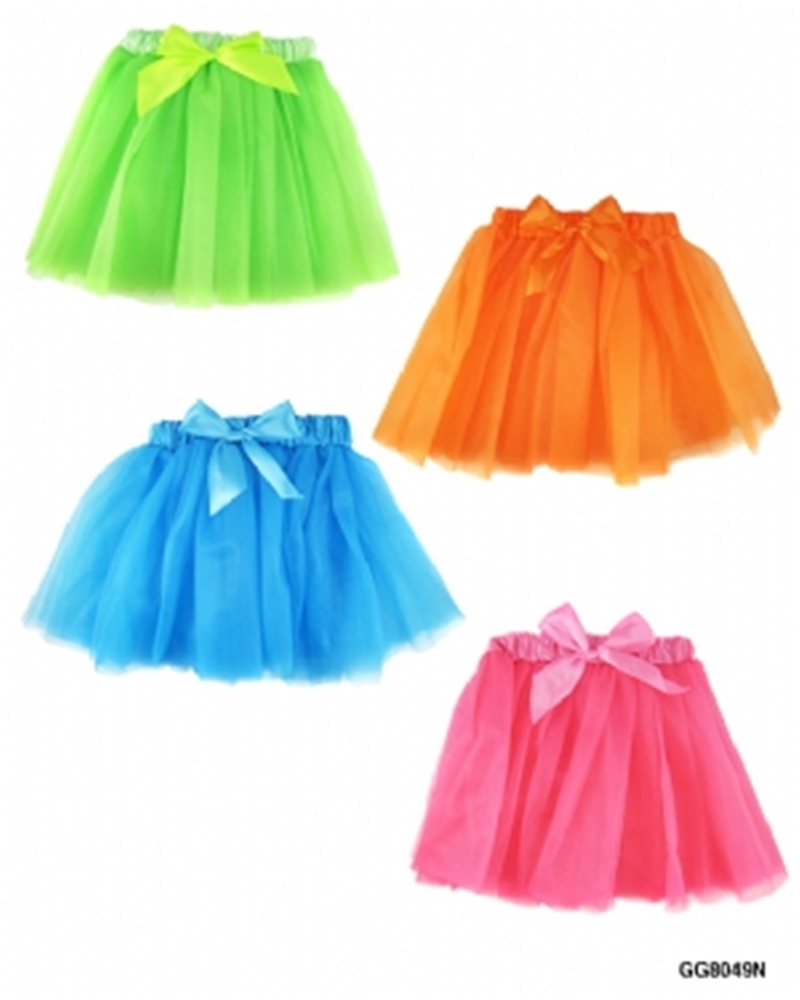 Princess Neon Skirt with Satin Waistband