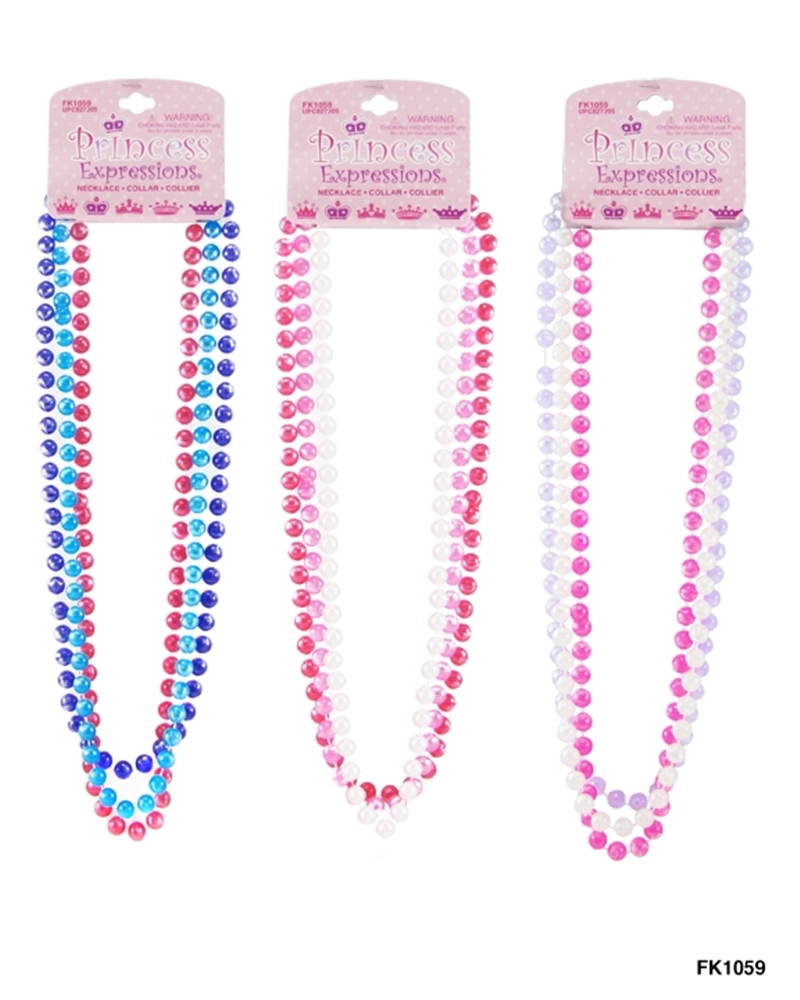 Princess Bead Necklace 3pc