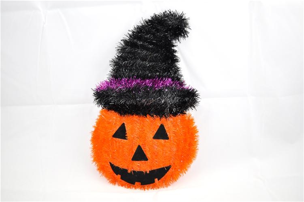 Pumpkin With Hat Decoration