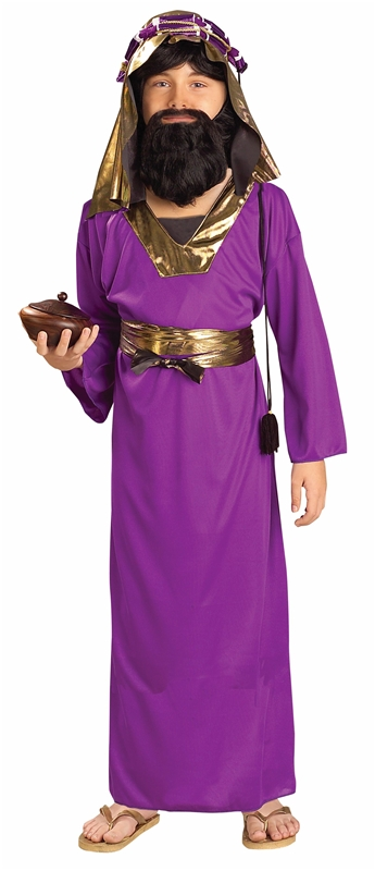 Purple Wiseman Child Costume (Child Wiseman Costume)