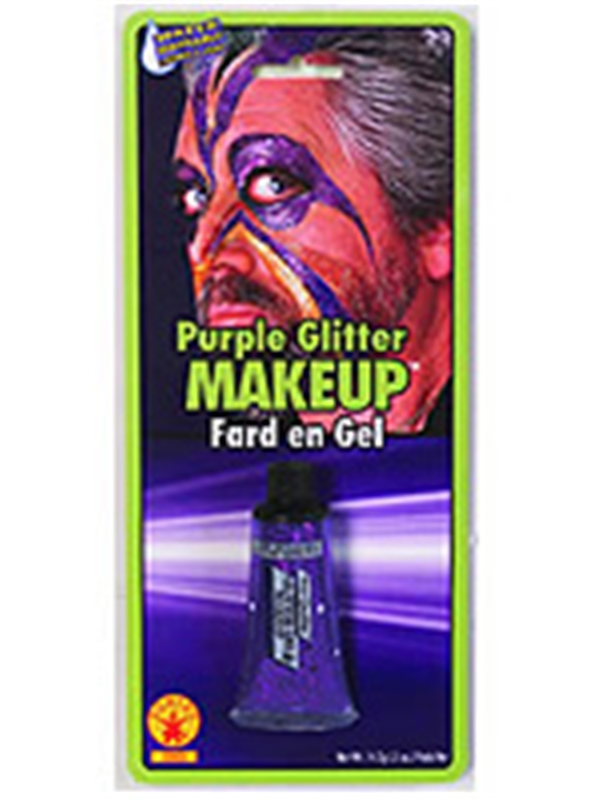 Purple Glitter Gel Makeup