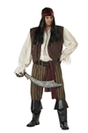 Rogue Pirate Plus Size Adult Mens Costume