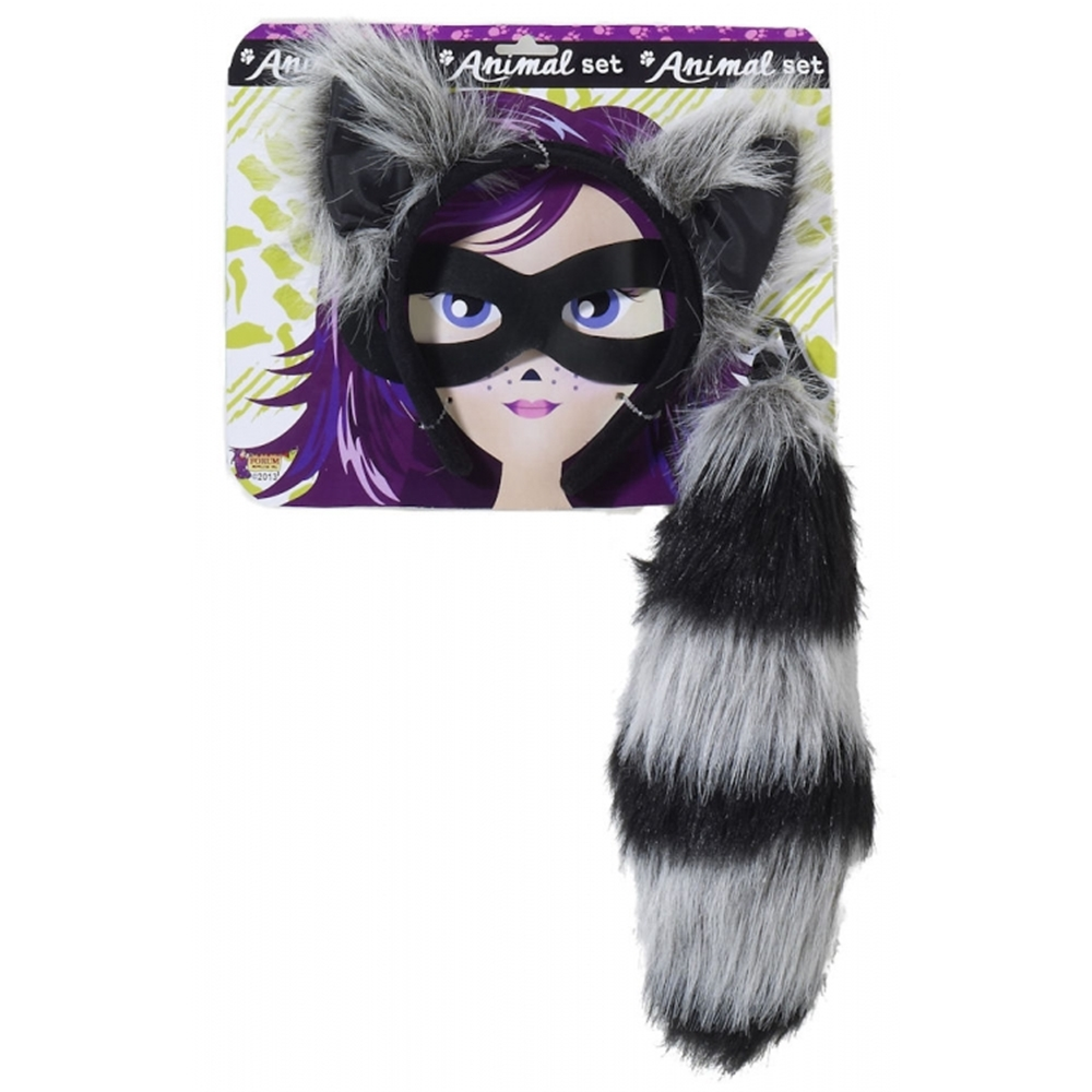 Racoon Ears & Tail Set (Racoon Tail)