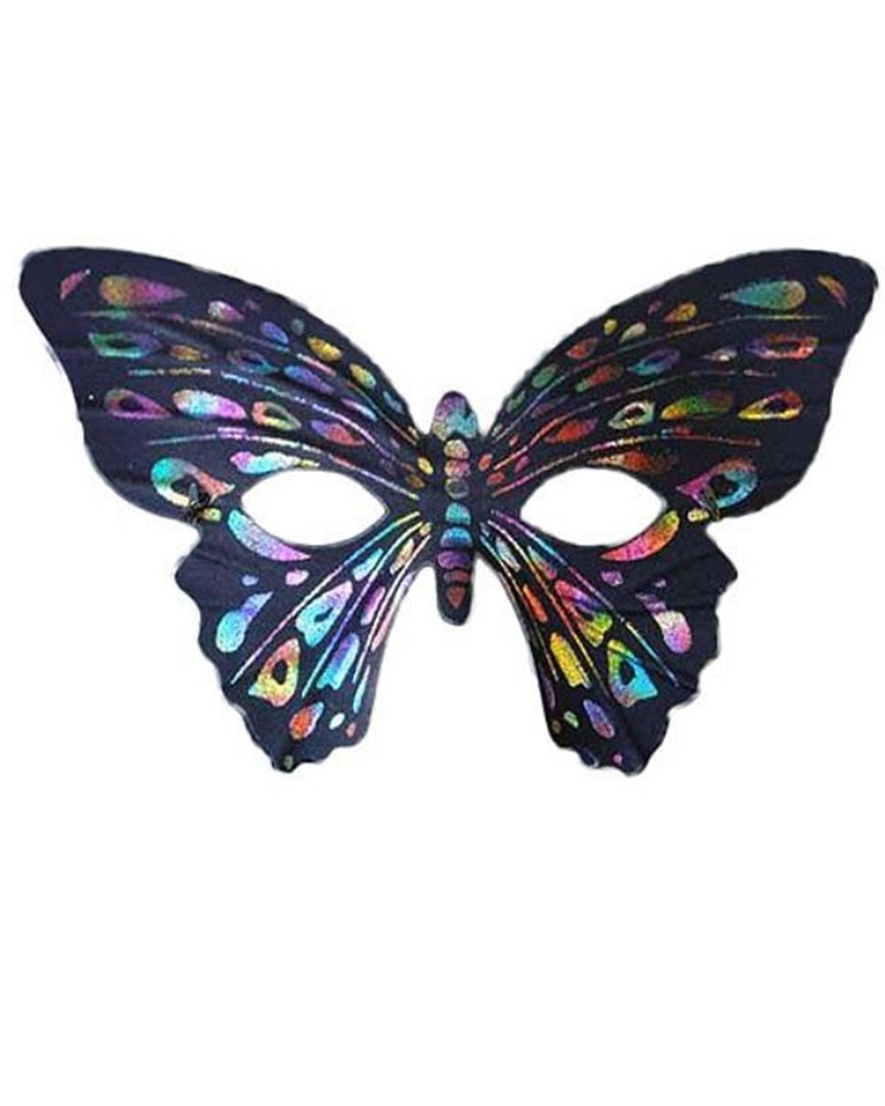 Rainbow Butterfly Party Mask 253862 Halloween