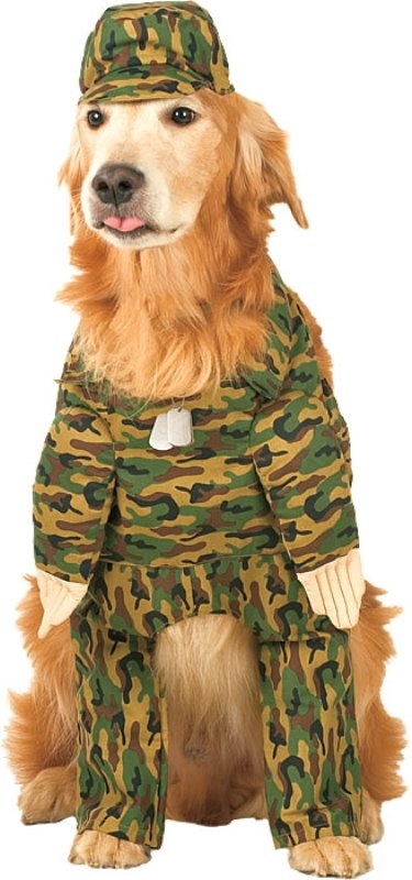 Rambark Army Pet Costume