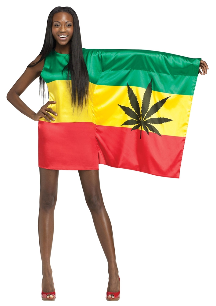 Rasta Flag Girl Adult Womens Costume