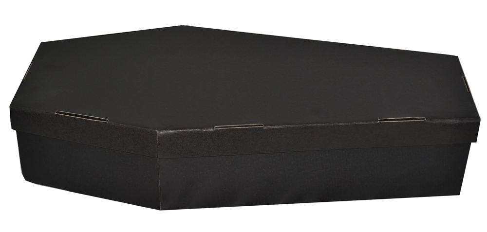 Realistic Black Coffin 2ft