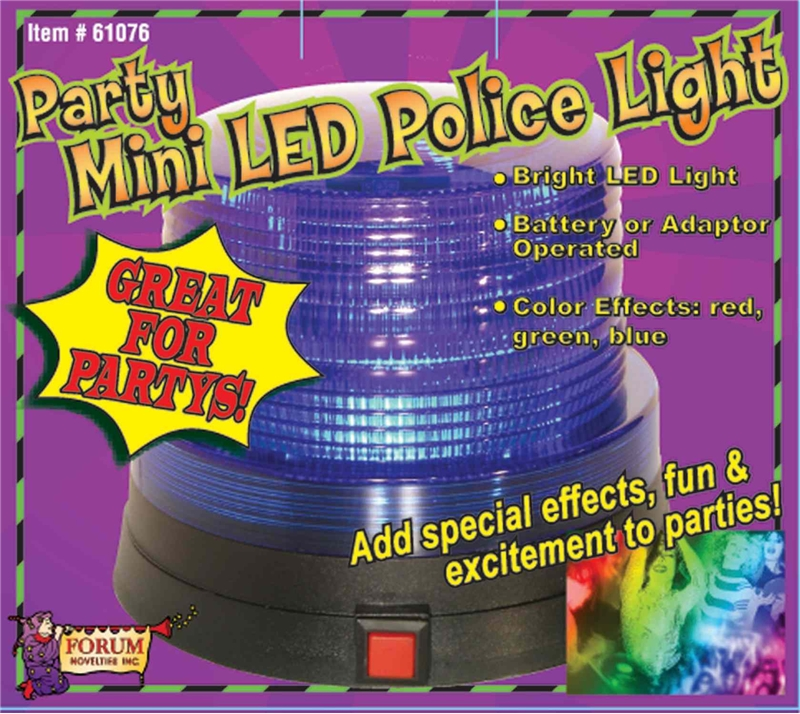 Red Led Police Light 4.75in