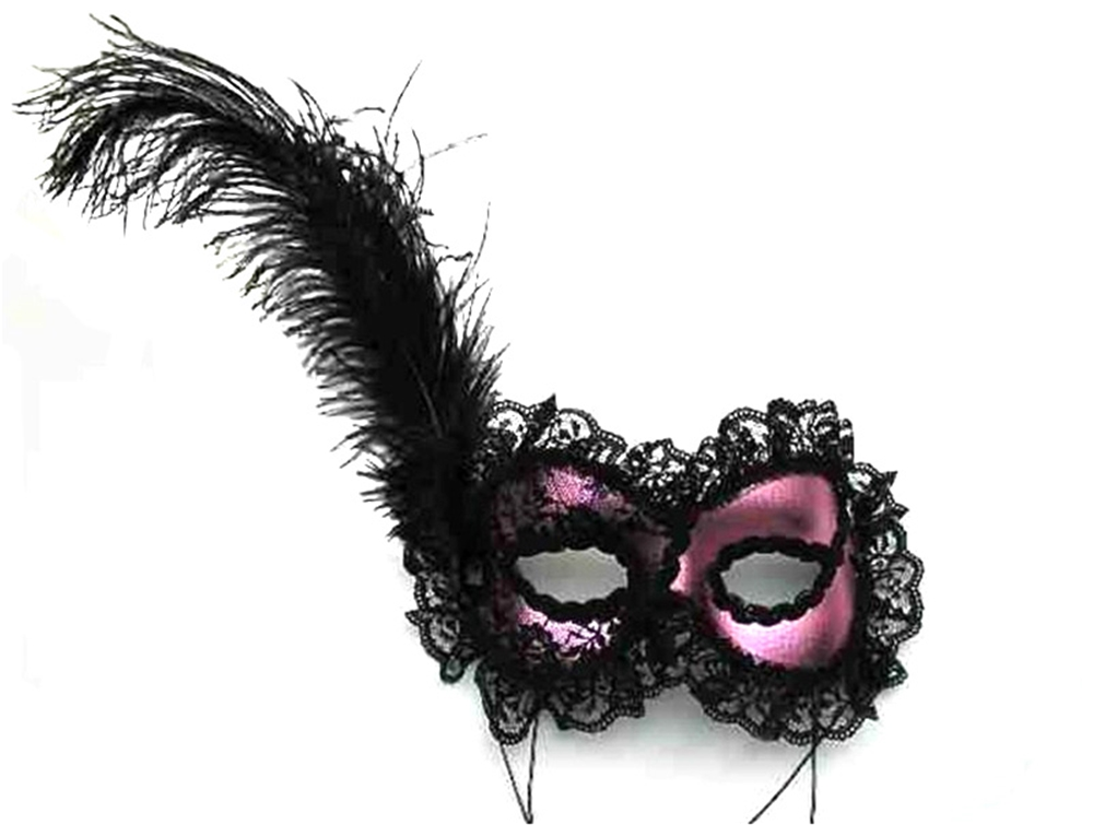 Rendezvous Feather Adult Mask